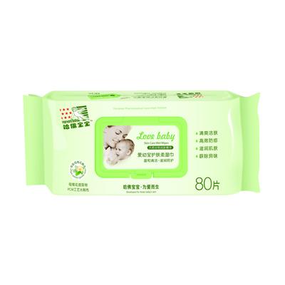 新爱幼宝护肤柔湿巾(80片)
